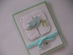 Bird on a Branch  Hello or Happy Birthday by gloriouscardgreeting, $3.00