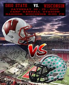 10-15-2016 GAME #6 THE VS. WISCONSIN GAME POSTER.