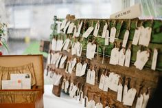 Help Your Guests Find Their Seats in Style With These Unique Escort Cards (Junebug Weddings) Wedding Day Tips, Wedding Places, Wedding Place Cards, Wedding Ideas, Wedding Party Games, Garden Party Wedding, Wedding Arch Flowers, Bohemian Wedding Inspiration, Seating Cards