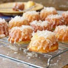 Mini Pina Colada Bundt Cakes