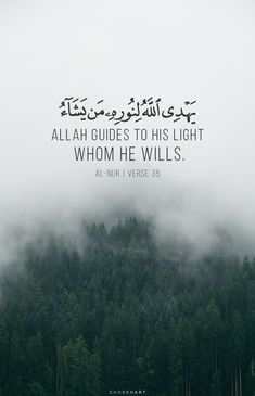Allah guides to his light whom he wills. Quran Quotes Inspirational, Beautiful Islamic Quotes, Arabic Love Quotes, Meaningful Quotes, Muslim Quotes, Religious Quotes, Hindi Quotes, Qoutes, Coran Quotes