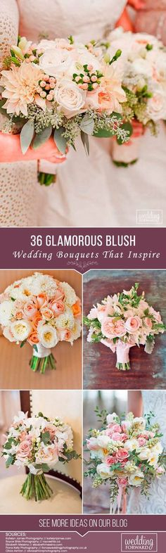 Magnificent blush wedding bouquets offer you a beautiful variety of choices, inspiration and excitement we live for. Just pick you favorite from this beauty