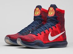 Nike Kobe 10 Elite High, University Red Flyknit/Obsidian/ White and Bright Crimson