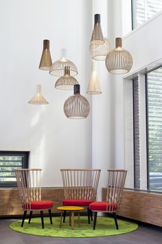 Beautiful Wood Lamps Handmade in Finland - Secto Design Lamps by Seppo Koho Interior Design Shows, Interior Design Inspiration, Cool Lighting, Lighting Design, Lighting Ideas, Deco Nature, Wood Lamps, Unique Lamps, Dining Room Lighting