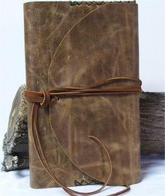 Large Leather Journal Art Diary Planner Travel Sketchbook Handmade Brown 10X6