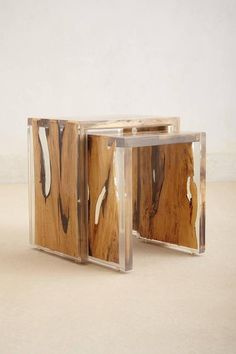 wood + resin table