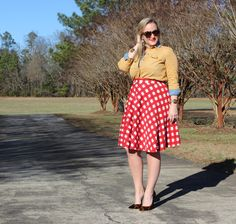 ASOS Red Checkered Skirt Southern Girl Winter Outfit