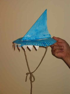 What a fun preschool craft for our under the sea theme. A wearable shark fin hat! Under The Sea Crafts, Under The Sea Theme, Ocean Activities, Summer Activities, Vocabulary Activities, Work Activities, Indoor Activities, Preschool Crafts, Kids Crafts