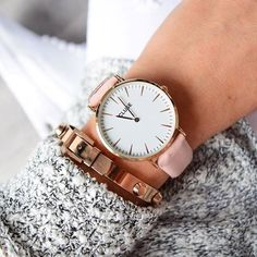 Arm Party Rose Gold Bracelet #fashion #style #watches #rosegold…