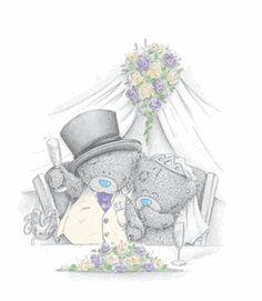 Tatty teddy having toast after wedding