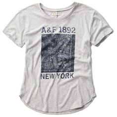 Abercrombie & Fitch Americana Graphic Tee ($18) ❤ liked on Polyvore featuring tops, t-shirts, navy, cotton t shirt, abercrombie fitch t shirts, navy blue t shirt, graphic design t shirts and cotton tee