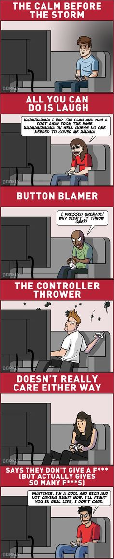 The 6 Types of Gamer Reactions to Losing an Online Match