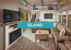 Our Island Series offers the ultimate experience. With a large selection of floor plans, you can personalize your RV from the start. Dream House Exterior, Dream House Plans, My Dream Home, Park Model Rv, Kropf, Tiny House Loft, Interior Shutters, Shipping Container Homes, Ranch Style