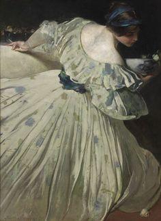 John White Alexander (American, 1856-1915 The Blue Bowl, 1898) Oil on canvas RISD Museum