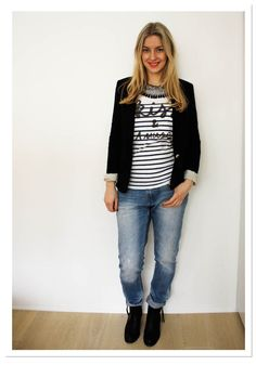 H jeans, Zara Jacket, Maison Scotch shirt