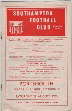 Vintage Football (soccer) Programme - Southampton v Portsmouth, 1965/66 season, by DakotabooVintage