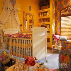 Love the colors, the patterns, and everything else about this nursery.