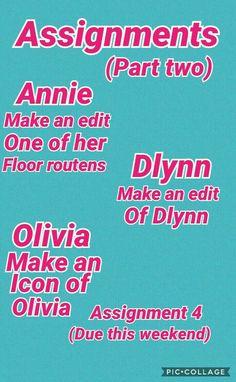 I ment aysia not Olivia sorry