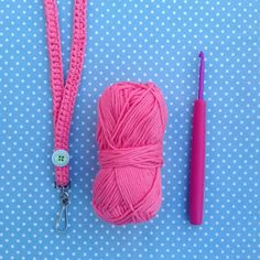 Crochet your own lanyard via Tea With Miss Beatrix