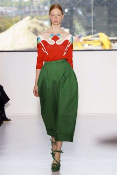 delpozo high waist pleated cropped and cuffed pant