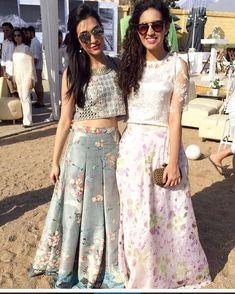 that pale green lengha skirt. Western Dresses, Indian Dresses, Indian Outfits, Indian Attire, Indian Wear, Ethnic Fashion, Indian Fashion, Indian Lehenga, Lehenga Designs