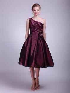 $159.99 One Shoulder A-Line Taffeta Bridesmaid Dress #bridesmaid #dress