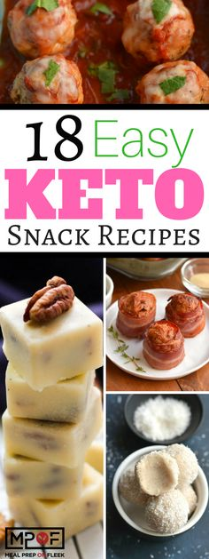 18 Easy Keto Snack Recipes
