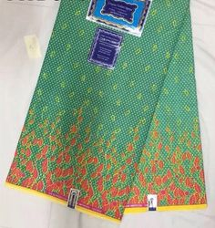African Print Fabric/ Dutch Wax/ Ankara/ Dacron/Woodin - mint Green & Pink Design, Sold By the Yard