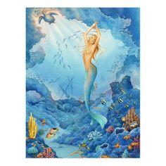 Mythical Creatures, Sea Creatures, Fantasy Creatures, Fantasy Mermaids, Mermaids And Mermen, Fantasy Kunst, Fantasy Art, Mermaid Artwork, Mermaid Fairy