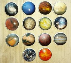 Planets of the Solar System Drawer Knobs Unique Universe Planet Celestial Space Cosmos Science Dresser Pulls Cabinet Door- Dresser Pulls, Drawer Knobs, Big Beds, Wood Screws, Of Wallpaper, Cabinet Doors, Solar System, Cosmos, Planets