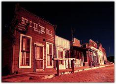 Randsburg at Night by Extra Medium, via Flickr