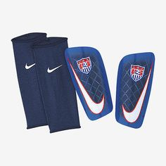 NIKE USA MERCURIAL LITE SHINGUARD FOOTBALL SOCCER 2015 Blue/Red/White