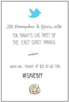 @lennonparham and @Jessica_StClair live tweet the east coast airings of BFF. Watch NBC tonight @ 8/7c #savebff #bffday
