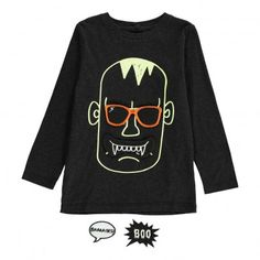 Barley Frankenstein T-Shirt with Movable Patches Noir  Stella McCartney Kids