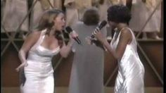 Whitney Houston & Mariah Carey When You Believe Live #tears