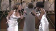 Whitney Houston & Mariah Carey When You Believe Live #tears