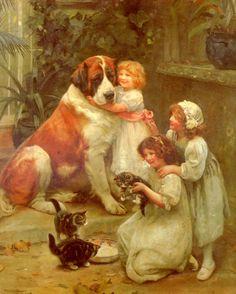 Family Favourites – Never Mind...Arthur John Elsley (1860 – 1952, English)