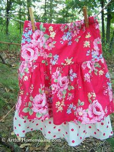 Artful Homemaking: Ruffle Skirt Tutorial