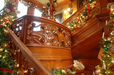 """Elaborate decorations add a special holiday touch to Milwaukee's Pabst Mansion during its annual """"Grand Avenue Christmas"""" celebration."""