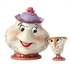 Mrs. Potts and Chip ''A Mother's Love'' Figure by Jim Shore | Disney Store Motherly Mrs. Potts and her perky son Chip are transformed by Jim Shore into an enchanting sculpture with the look of carved, chipped wood detailed in rosemaling patterns.