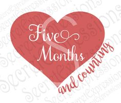 Five Months & Counting Svg, Mom to Be Svg, Pregnancy Svg, Maternity, Digital Cutting File, JPEG, DXF, SVG Cricut, Svg Silhouette, Print File by SecretExpressionsSVG on Etsy