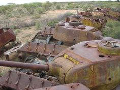 Abandoned tanks