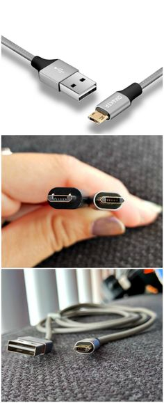 Thanks to its new design, the Reversible Micro USB Cable has reversible ports on both ends; plug in without worrying about the cable orientation.