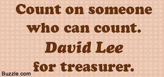 Catchy treasurer slogan