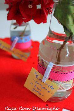 Vaso criativo- reaproveitando garrafas de vidro