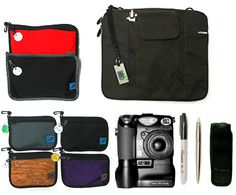 Tom Bihn Organizer Pouches with categorized contents