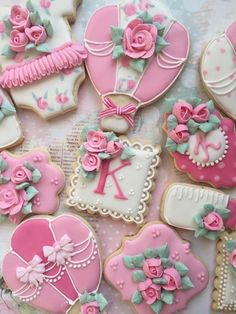 Shabby Chic royal icing cookies