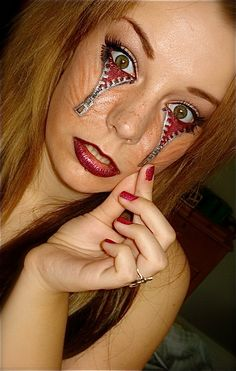 make up a scary halloween Tattoos Gone Wrong, Weird Tattoos, Funny Tattoos, Tattoos For Guys, Tatoos, Terrible Tattoos, Awesome Tattoos, Halloween Make Up, Halloween Face Makeup