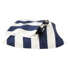 Circo® Rugby Stripe Sheet Set - Navy Blue/White (Twin)