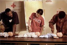 CPR and First Aid Certification from the Red Cross. They make it easy to find a class near you.
